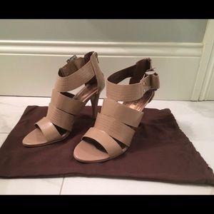 Victor Alfaro taupe dress heels